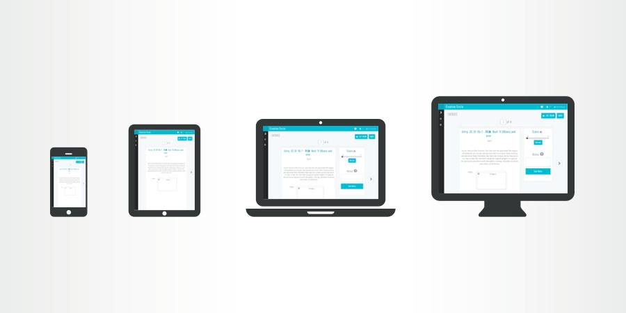 Tablet friendly judging screens